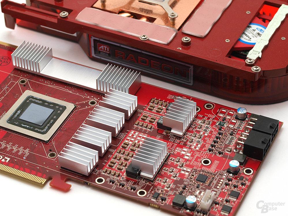 Passiv-Kühlerausstattung für RAM und Spannungswandler