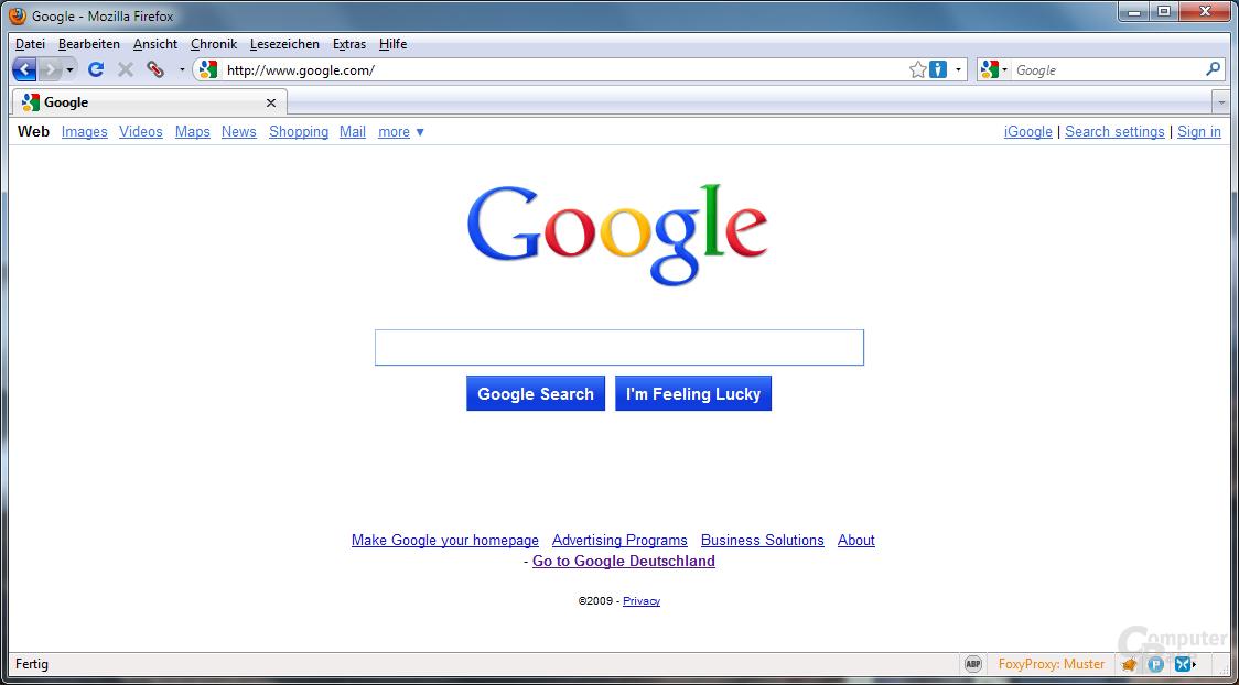 Neue Google-Startseite?