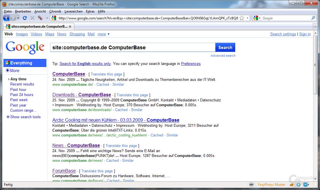 Suchergebnisse unter computerbase.de