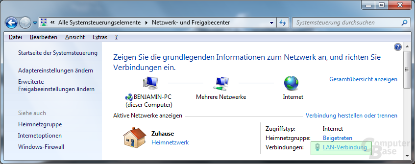 Google DNS: Schritt 1 (Windows 7)