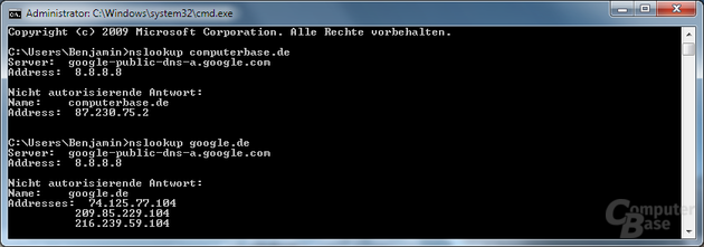 Google-DNS-Test