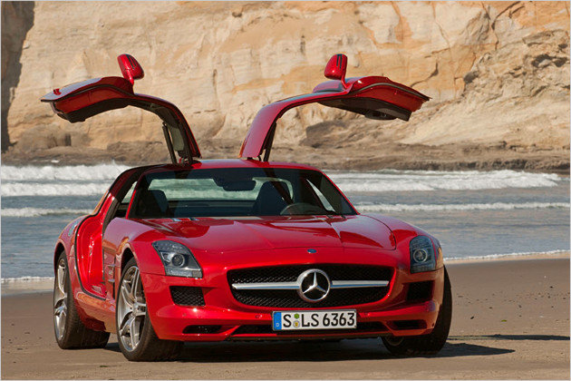 Mercedes SLS AMG (Quelle: Heise Autos)