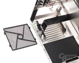 Lian Li PC-B25F – Staubfilter und Netzteilmontage