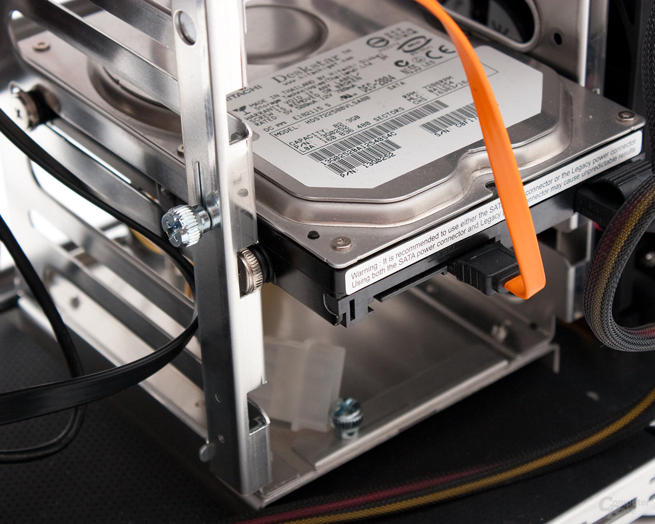 Lian Li PC-B25F – HDD-Verriegelung offen