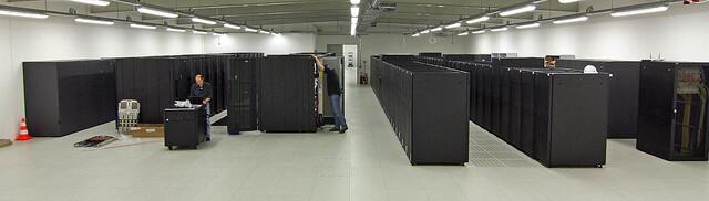Der von IBM hergestellte Supercomputer Blizzard am DKRZ