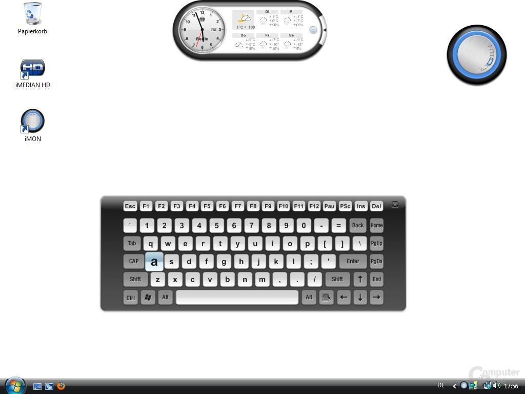 OrigenAE M10 – Virtuelle Tastatur