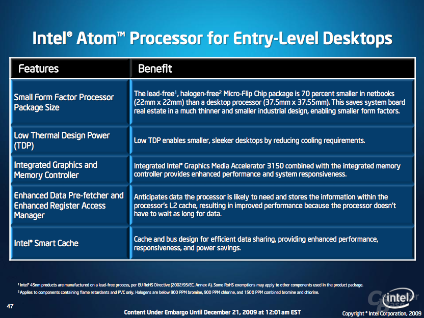 """Neuer Atom-Prozessor und die  """"Pine Trail""""-Plattform"""