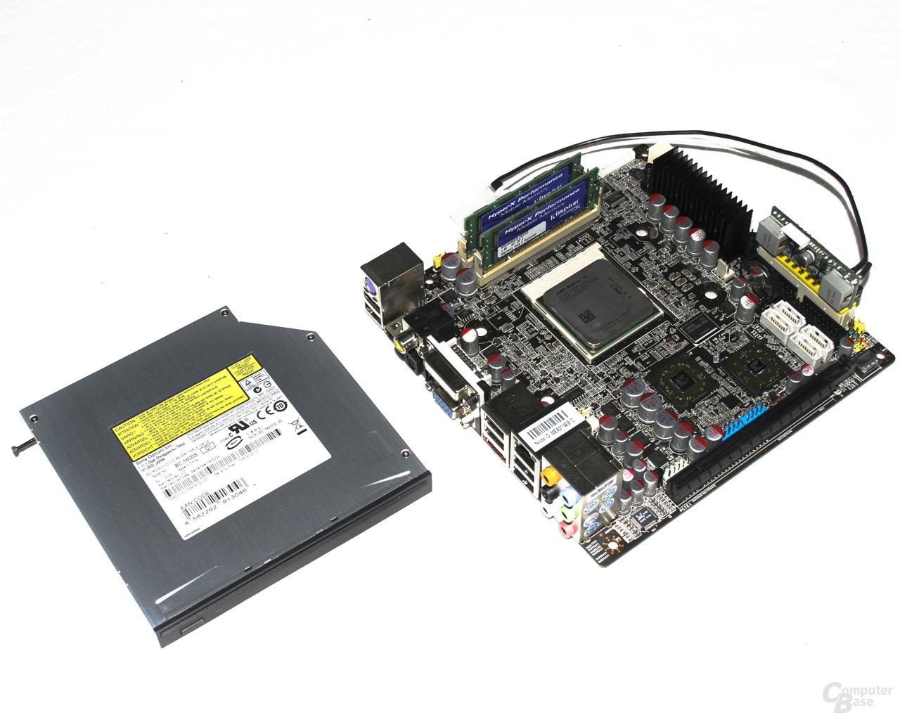 Soartec picoX – Mainboard und Blu-Ray-Laufwerk