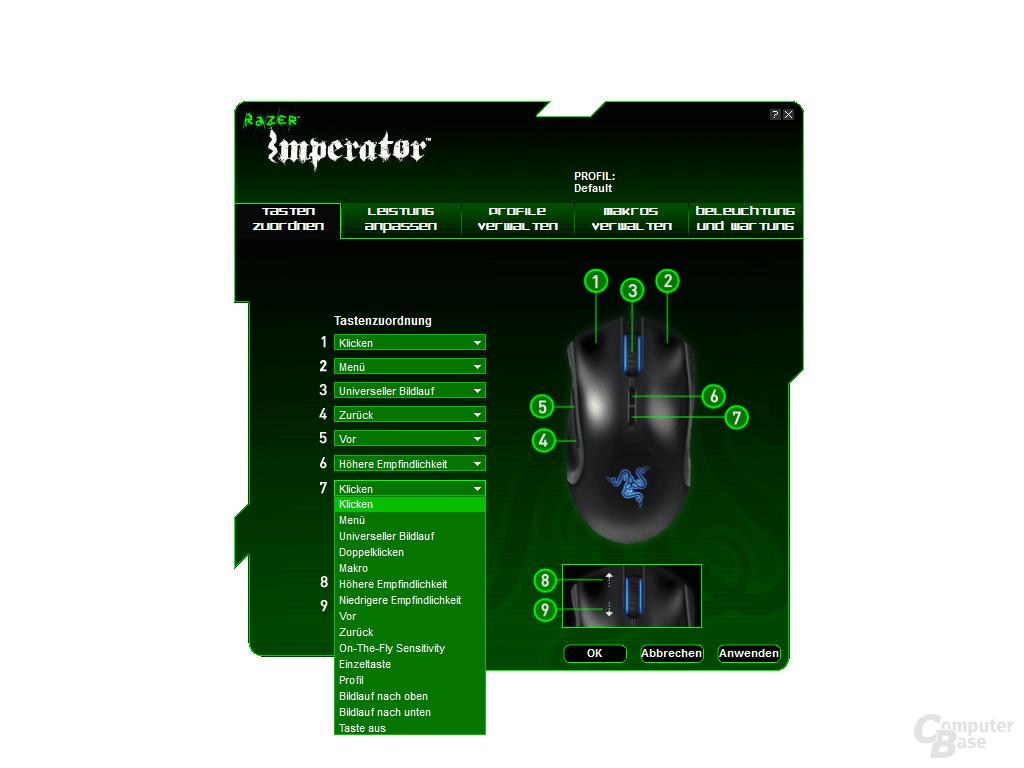 Razer Imperator Treiber