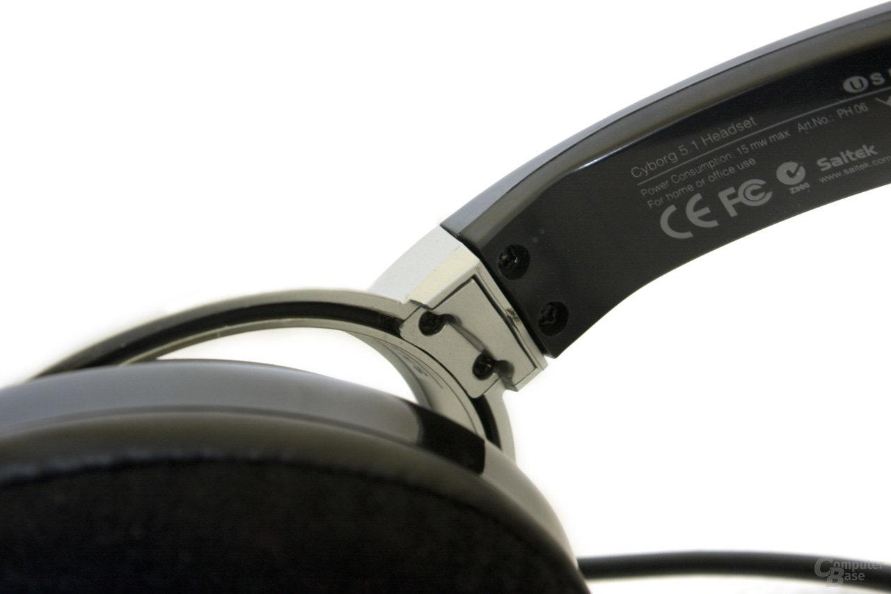 Befestigung der Ohrmucheln