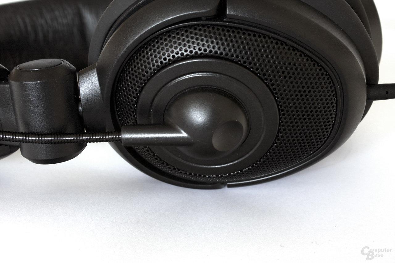 Verbindung des Mikrofonarms zur Ohrmuschel