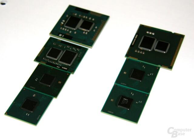 Drei CPUs und vier Chipsätze