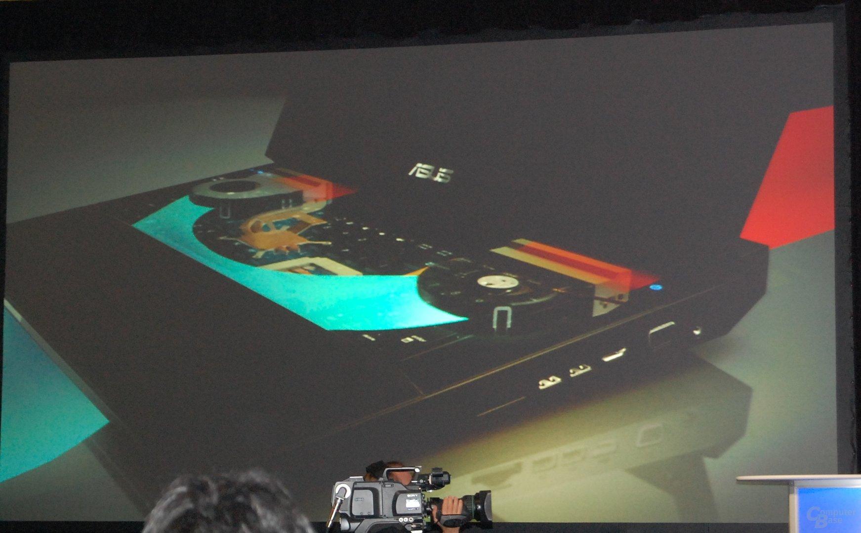 Asus ROG G73 Notebook – Kühlsystem