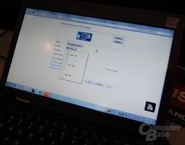 Auflösung des Lenovo Thinkpad x100e