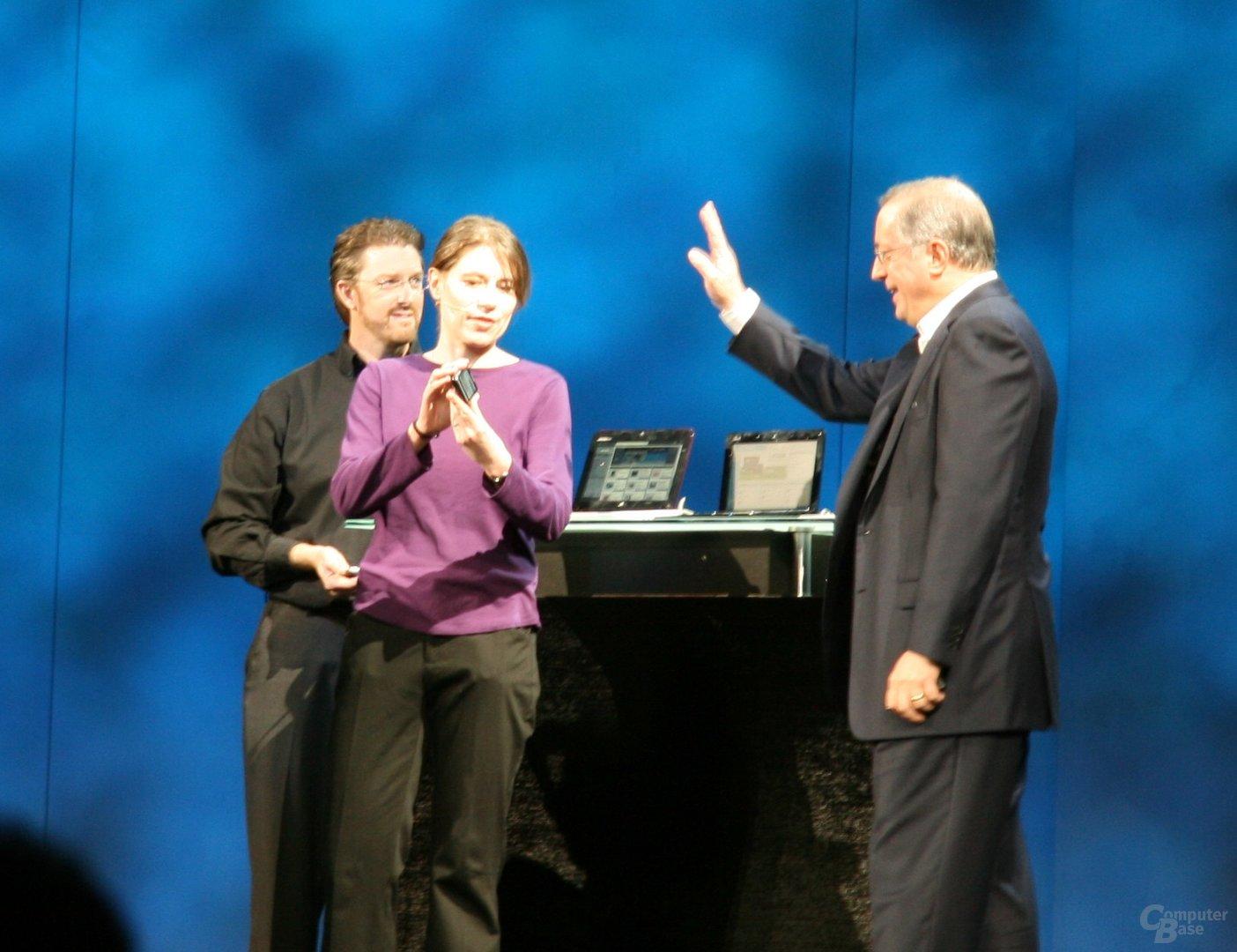 Impressionen von der Intel-Keynote