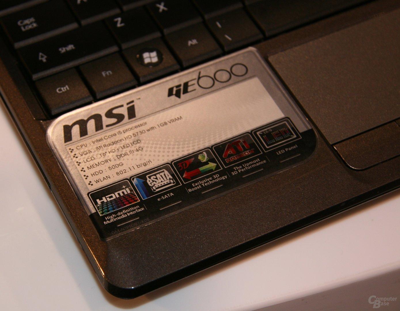 MSI GE600