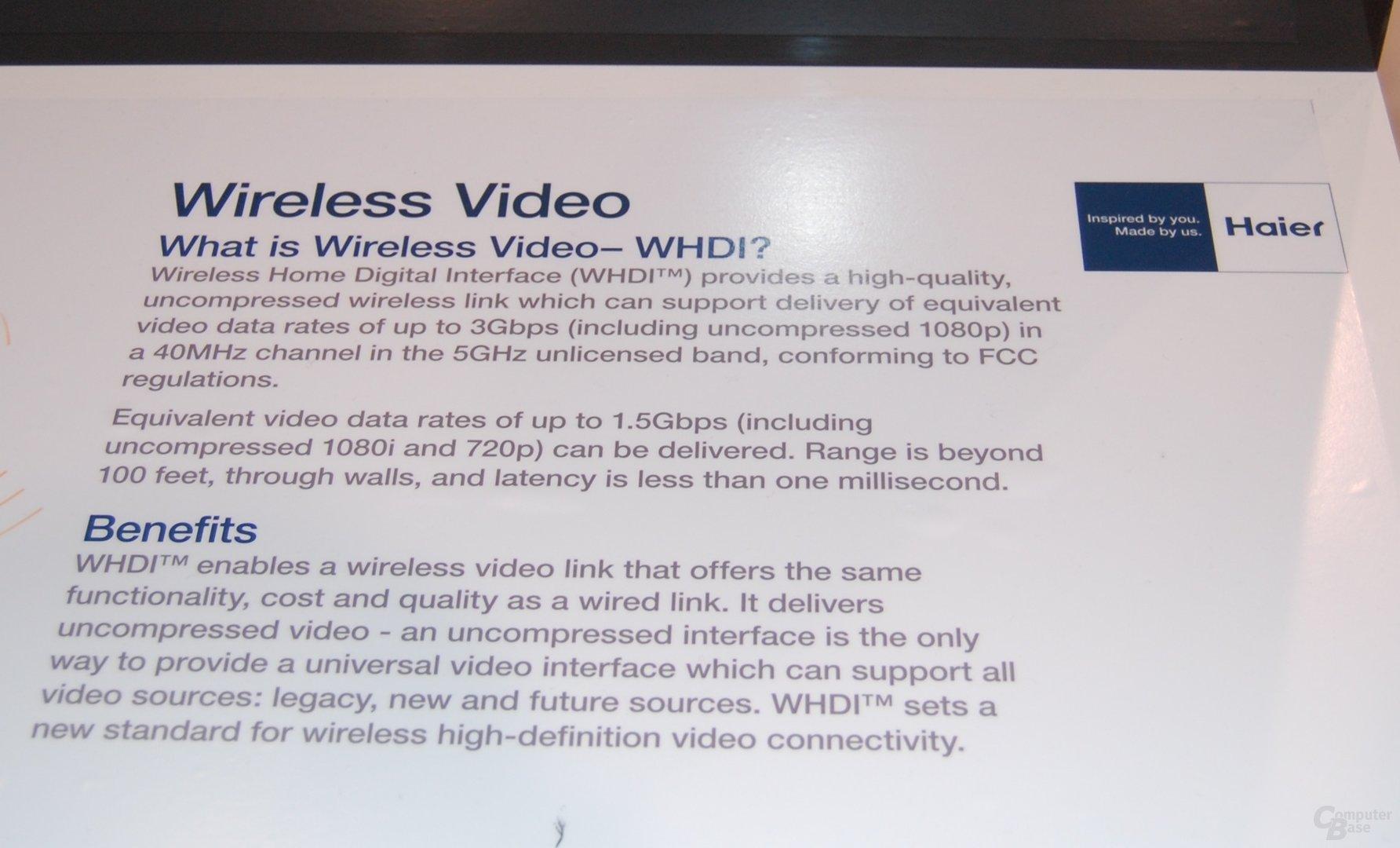 Haiers vollständig kabelloser HDTV