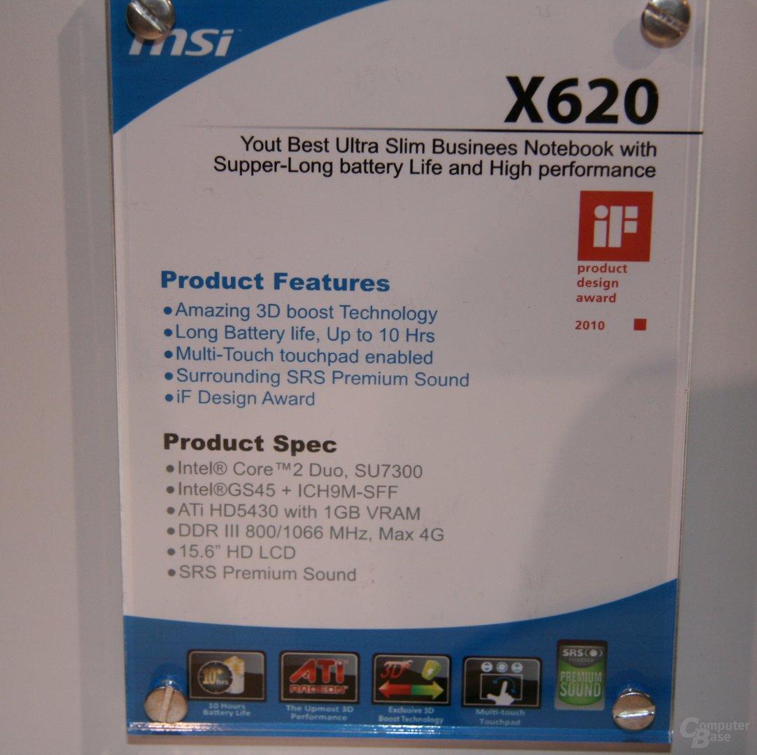 MSI X620