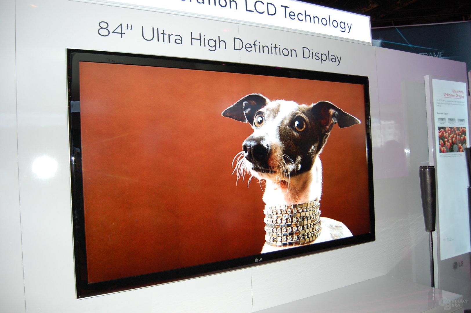 """84"""" Ultra High Definition Display von LG"""