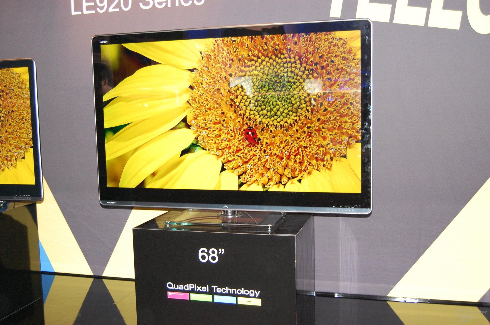 HDTVs von Sharp mit QuadPixel