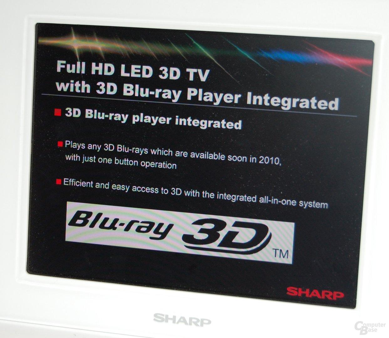 3D HDTVs von Sharp