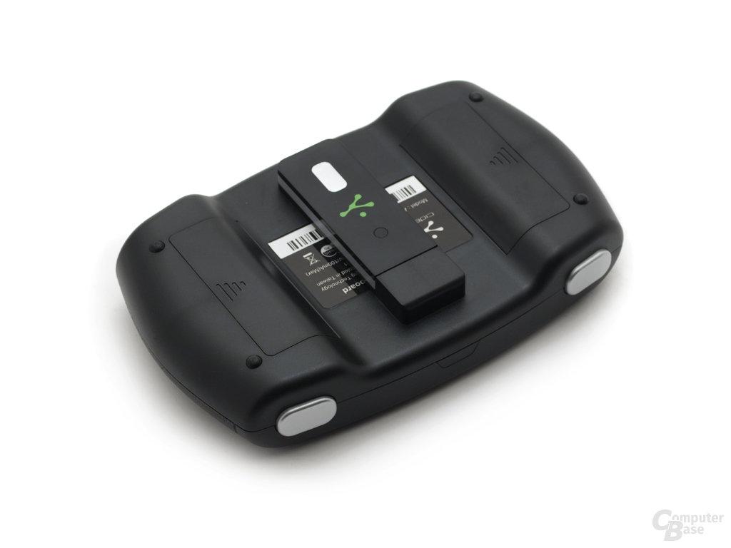USB-Empfänger kann verstaut werden