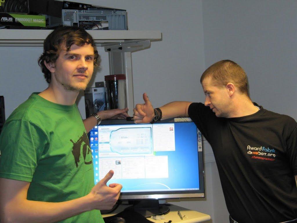 3DMark Vantage Weltrekord – Das Team