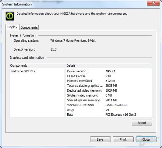 Nvidia GeForce 196.21