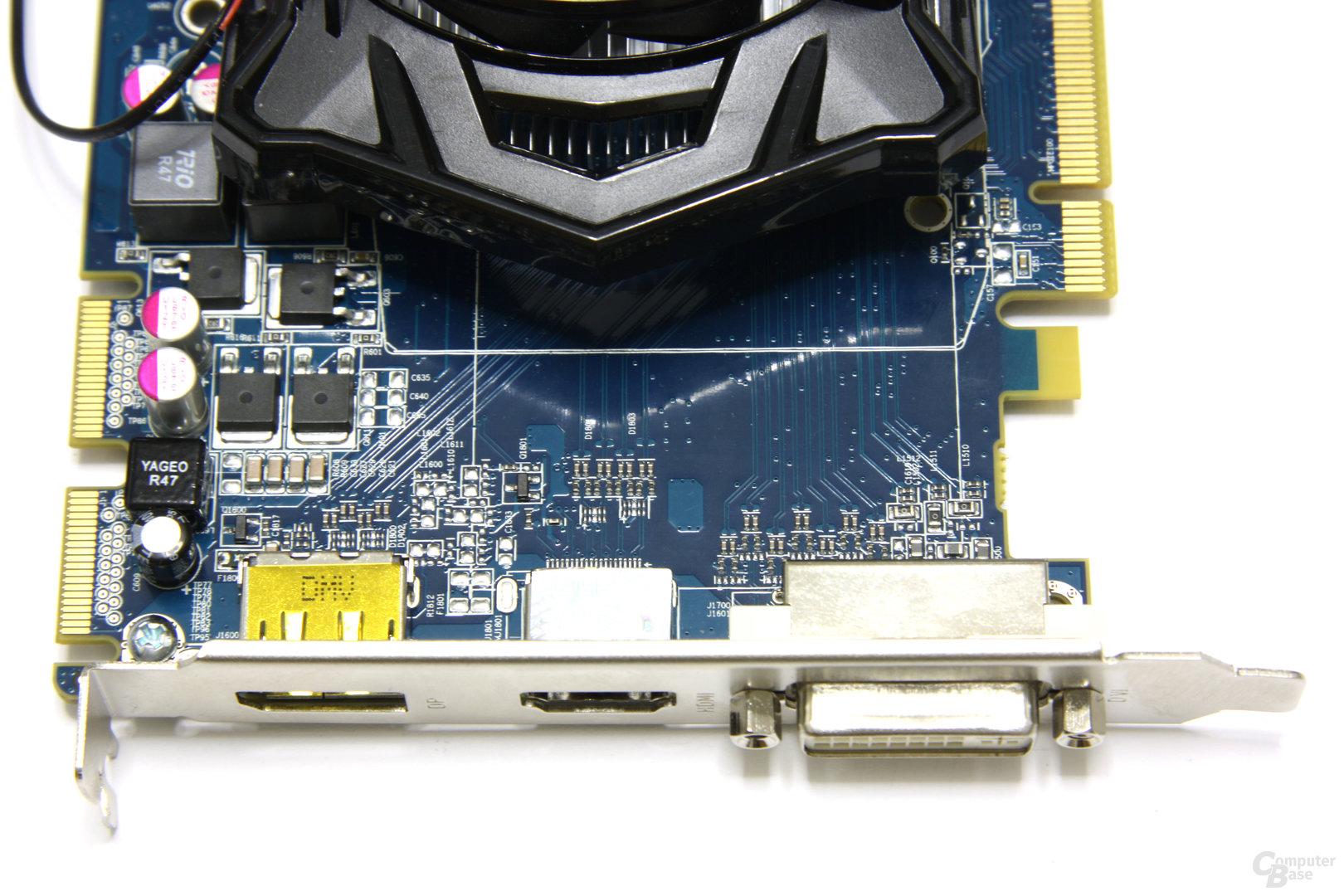 Radeon HD 5670 Anschlüsse