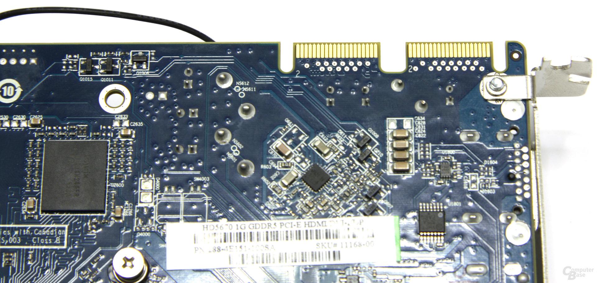 Radeon HD 5670 CF-Anschlüsse