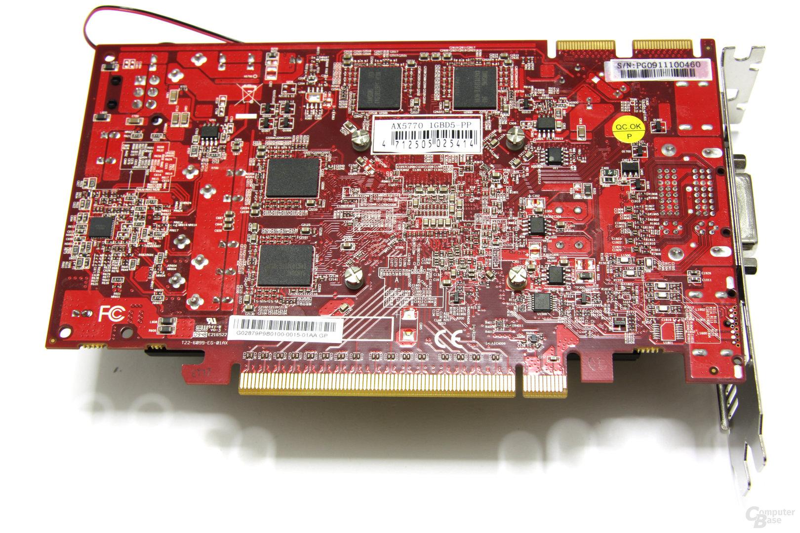 Radeon HD 5770 PCS+ Rückseite