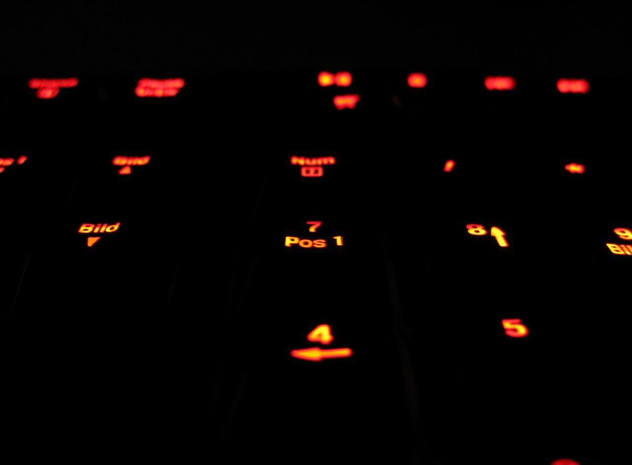 Detailaufnahme der Tastenbeleuchtung