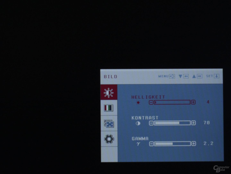 Onscreen-Display des LG W2220P