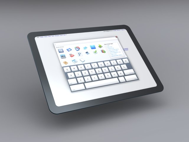 Designstudie zum Google-Tablet