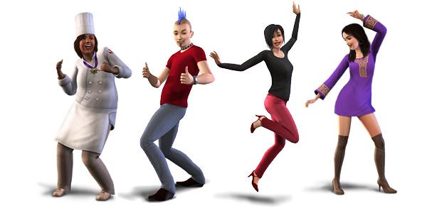 Jubelnde Sims