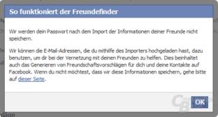 Facebook-Hinweis