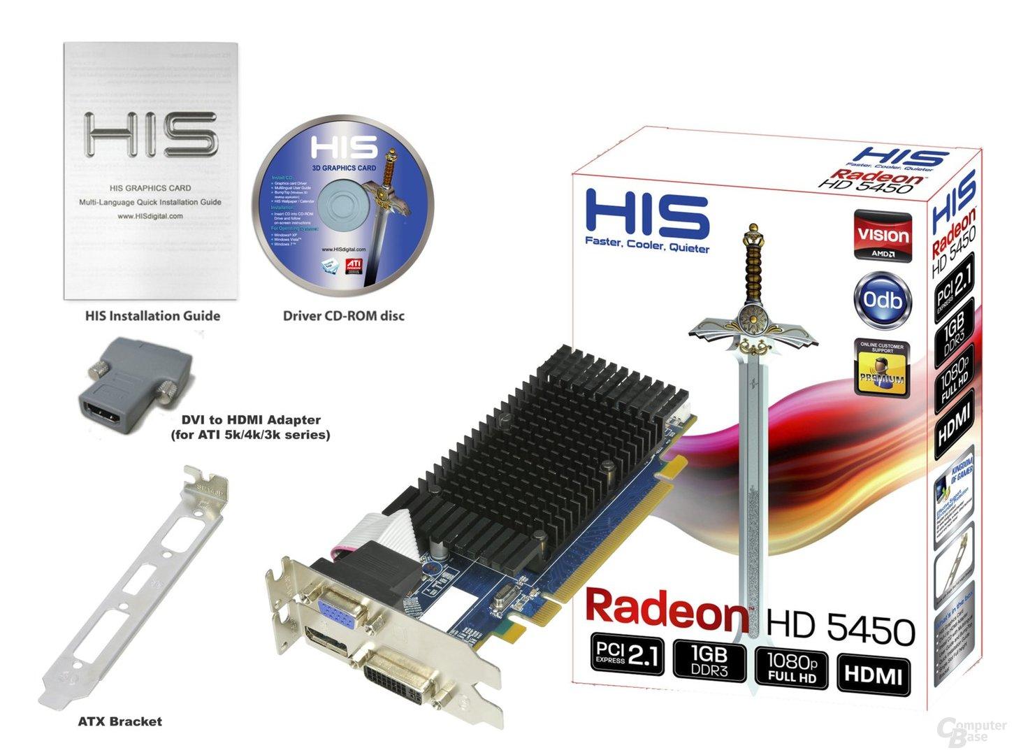 HIS Radeon HD 5450 mit 1 GByte DDR3 und DisplayPort