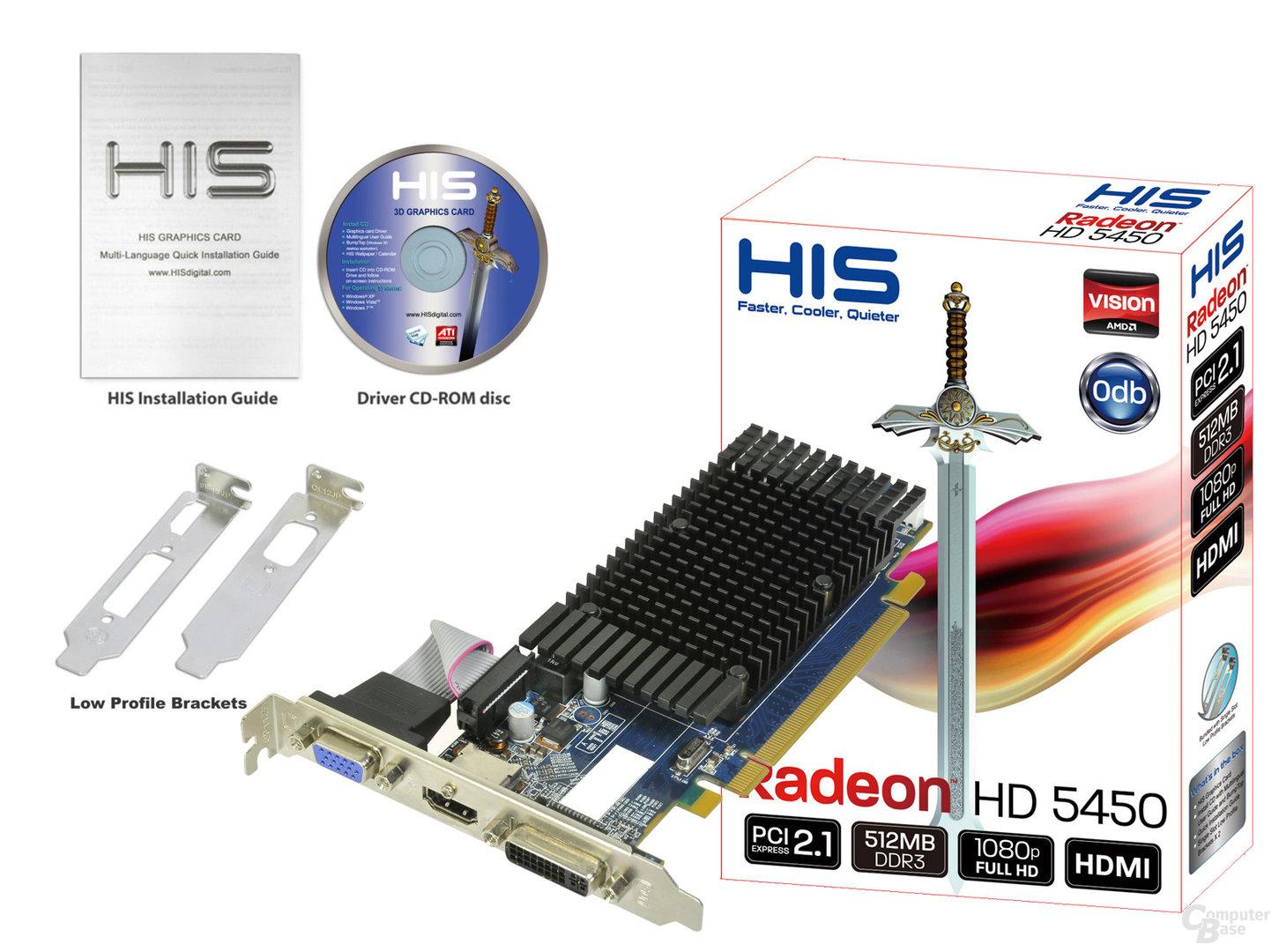 HIS Radeon HD 5450 mit 512 MByte DDR3
