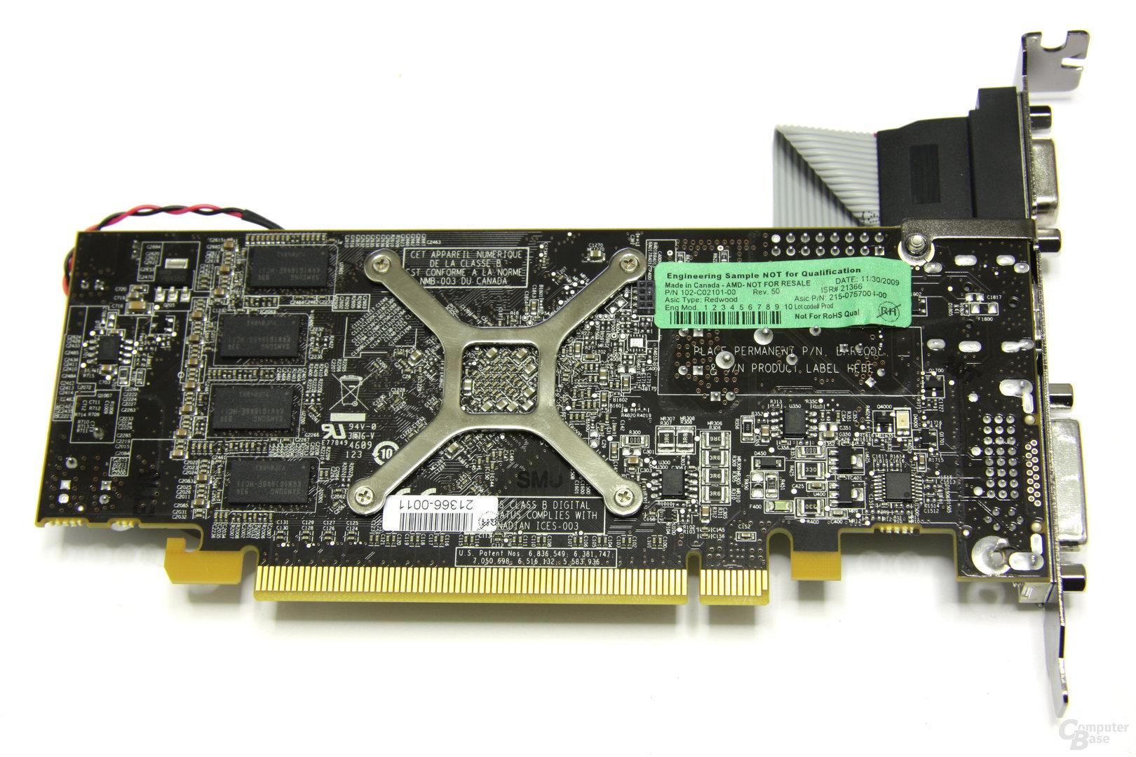 Radeon HD 5570 Rückseite