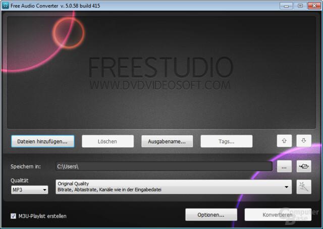 Free Audio Converter – Konvertieren