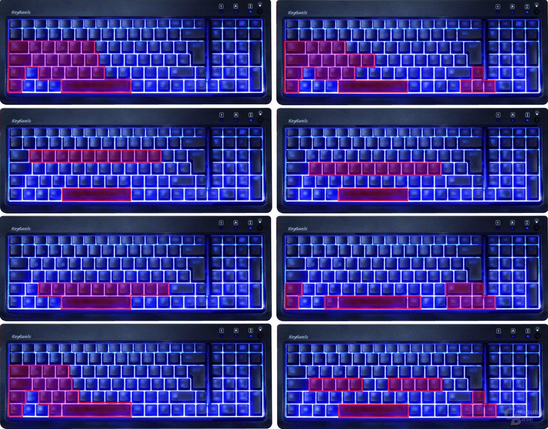 Anti-Ghosting-Tastenbelegungen der KeySonic KSK-6001 UELX
