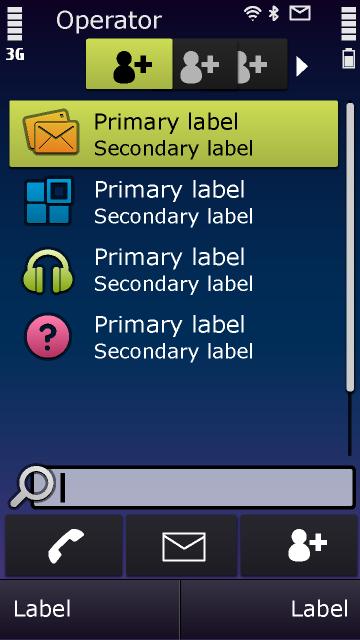 Symbian^3 – Liste