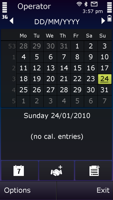 Symbian^3 – Kalender