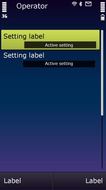 Symbian^3 – Einstellungen