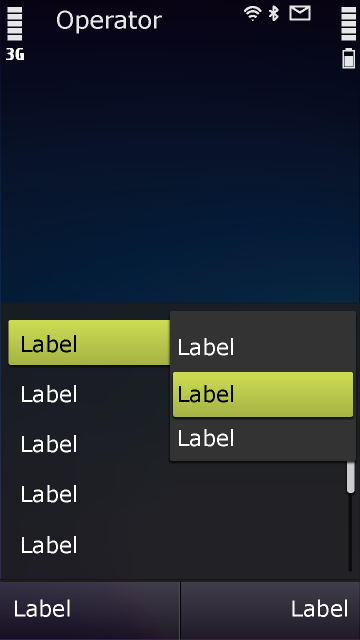 Symbian^3 – Optionen