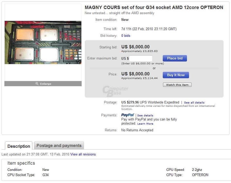 Zwölf-Kern-Prozessor von AMD bei eBay
