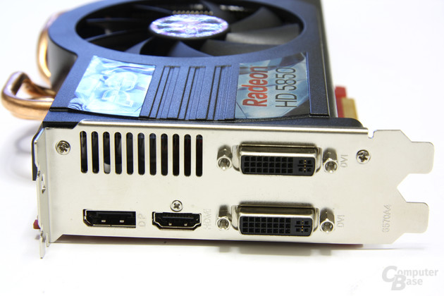 Radeon HD 5850 PCS+ Slotblech
