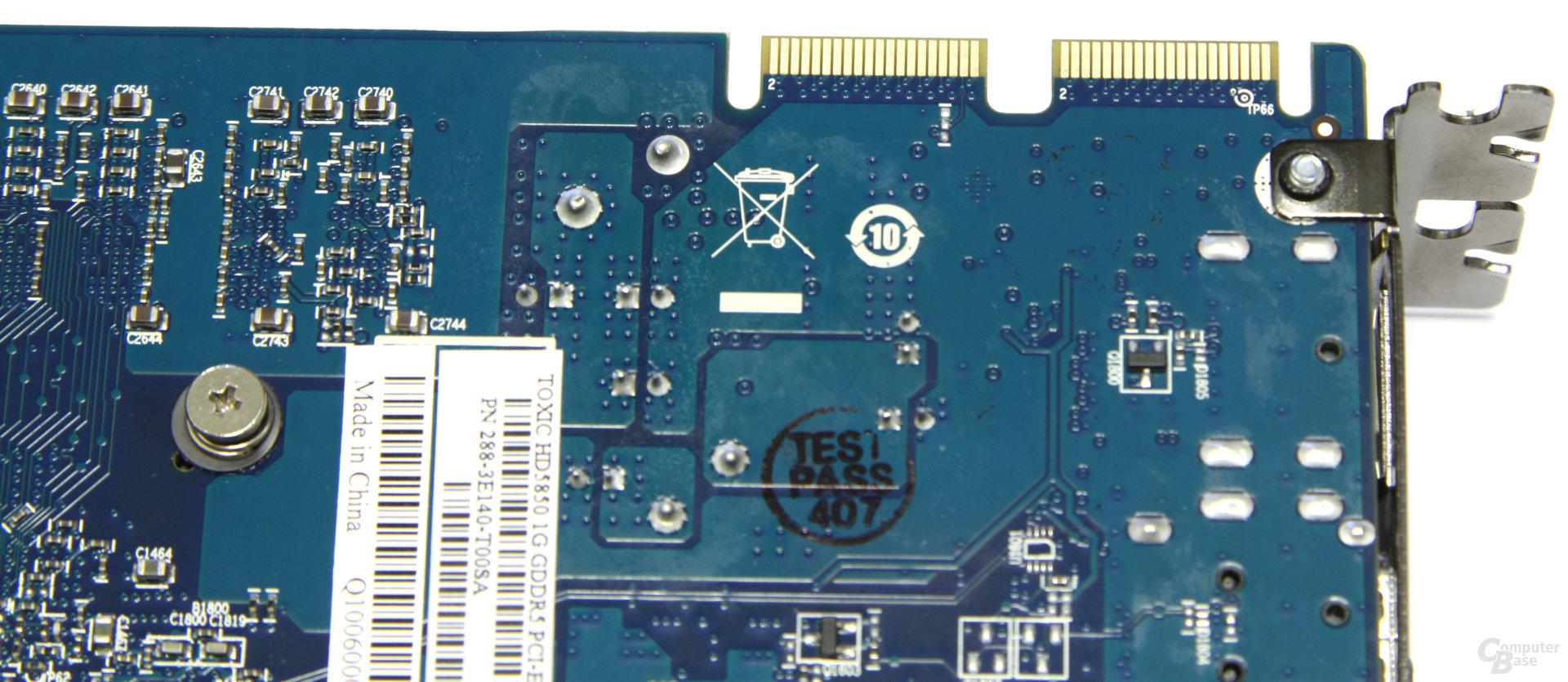 Radeon HD 5850 Toxic CF-Anschlüsse