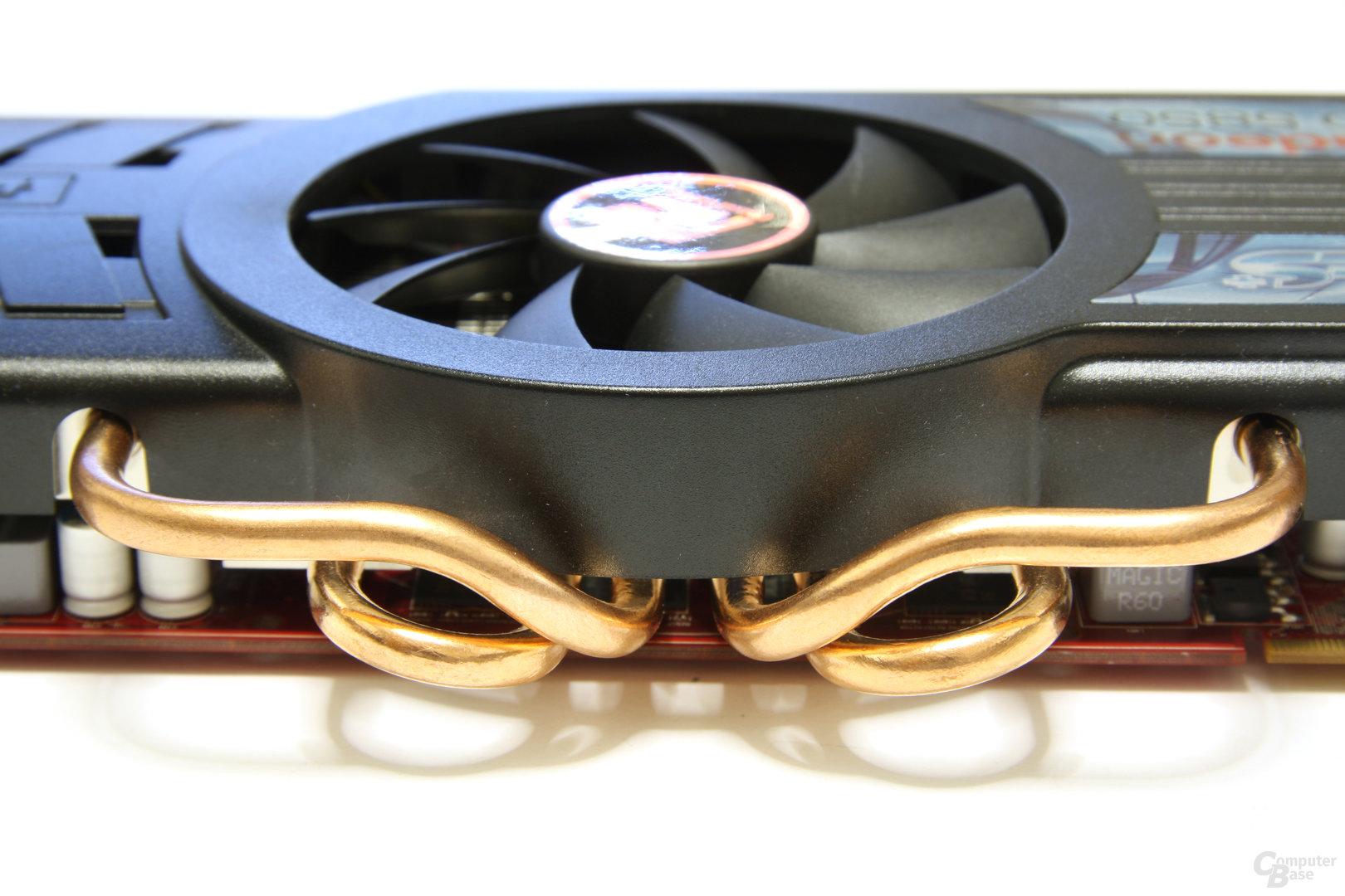 Radeon HD 5850 PCS+ Heatpipes
