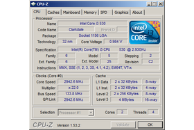 Intel Core i3-530 undervoltet